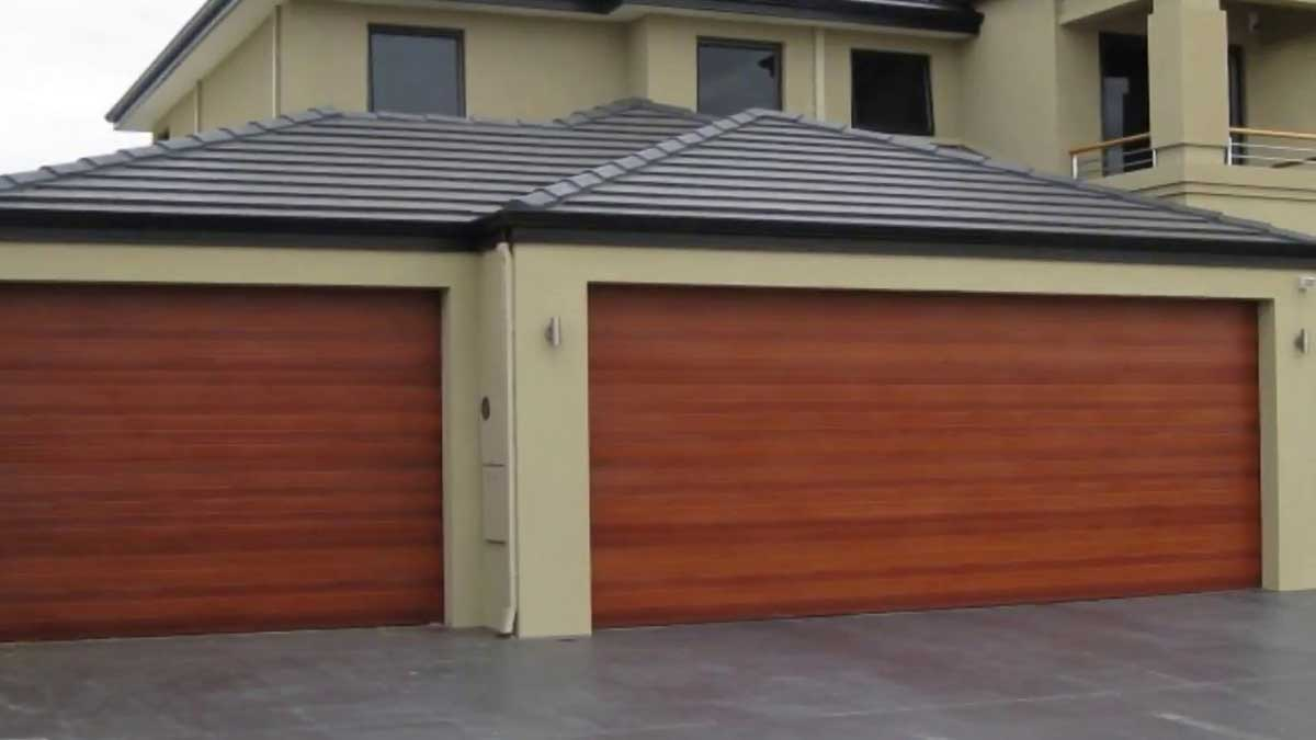 double door roll up garage door