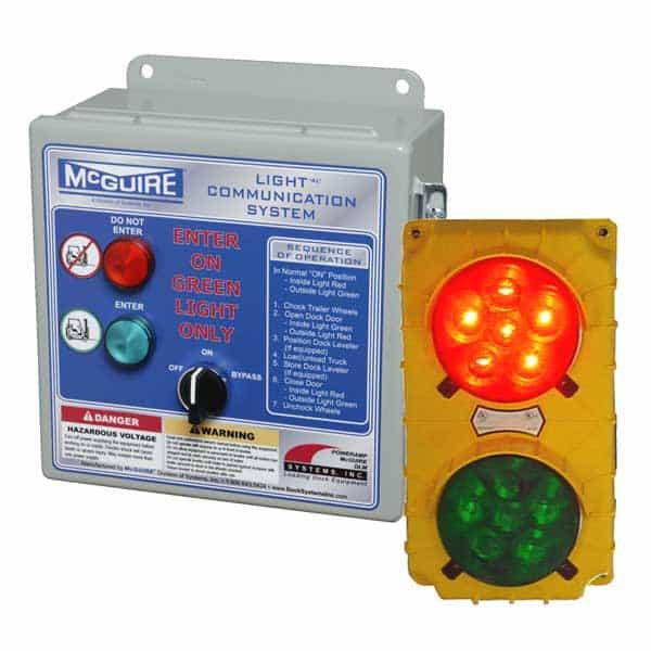loading dock safety light communication system