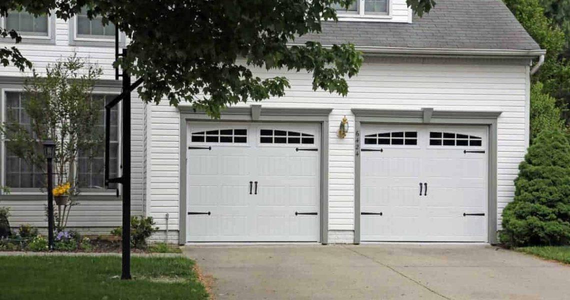 double car insulated garage door
