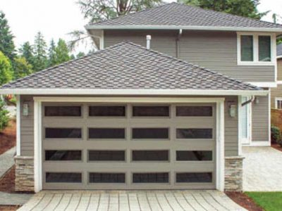 residential garage door all windows
