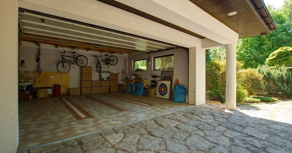 clean double garage