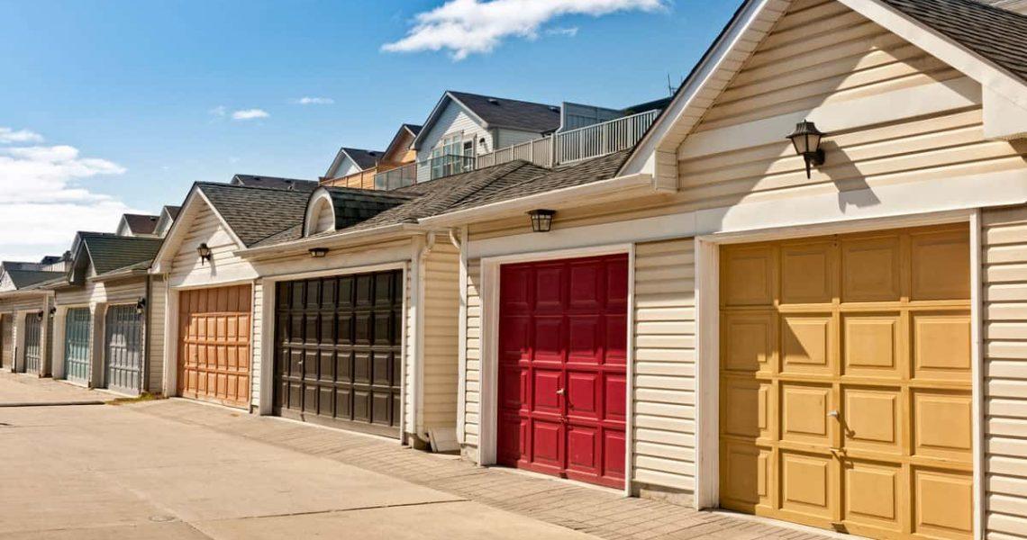 color-garage-doors-row-of-parking-garages