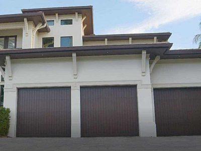 3 car garage door on large home