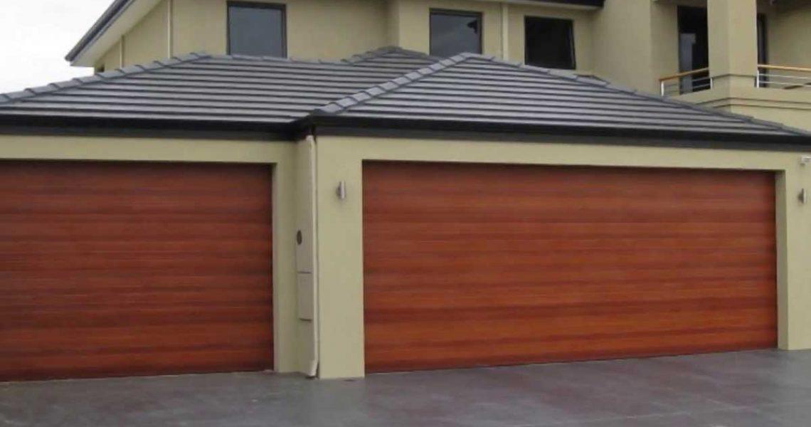 double door roll up garage door
